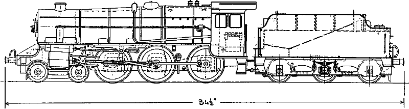 black five a 2a gauge locomotive